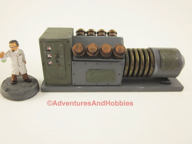 Mad science laboratory power generator - front view