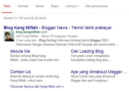 Untuk SEO : Apakah yang diMaksud SiteLink-blog kang miftah