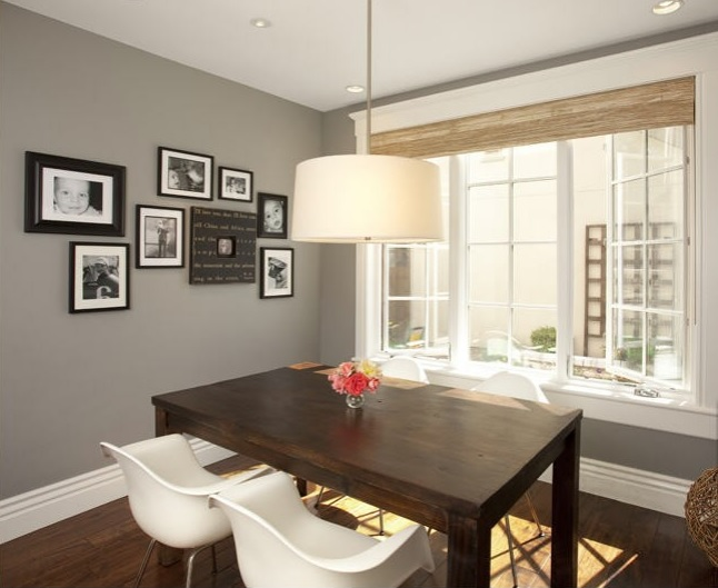 Decorating with gray or grey for Dining room grey walls