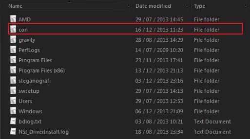 """Cara Membuat Folder """"CON"""" di Windows"""