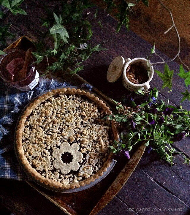Raspberry Pecan Linzer Torte | une gamine dans la cuisine