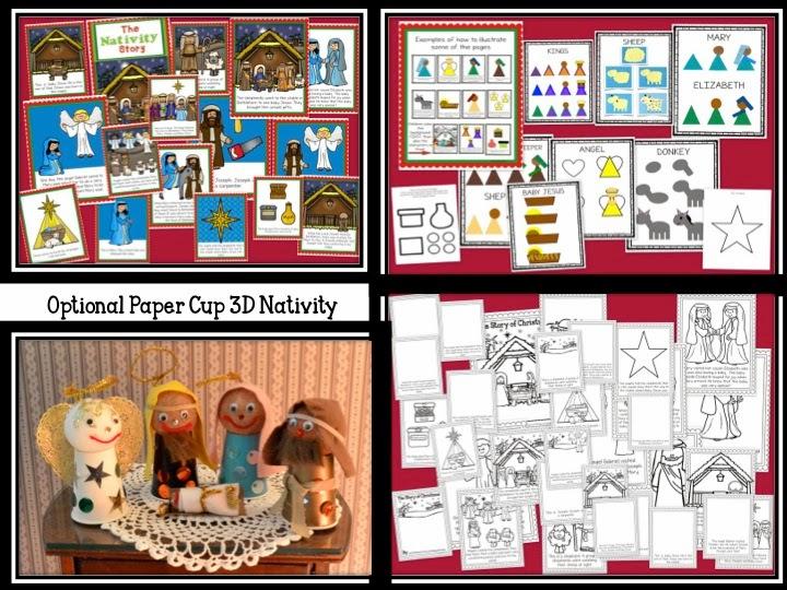 http://www.teacherspayteachers.com/Product/The-Nativity-Story-Lets-Make-a-Book-1586777