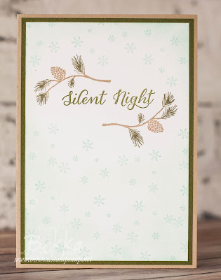 Make in a Moment Monday - Silent Night Wonderland Christmas Card.  Get the details here