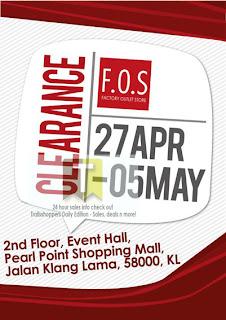F.O.S Clearance Sale 2013