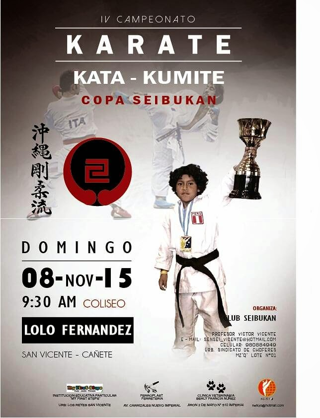 "IV CAMPEONATO DE KARATE ""Copa Seibukan"" Cañete-Perú"