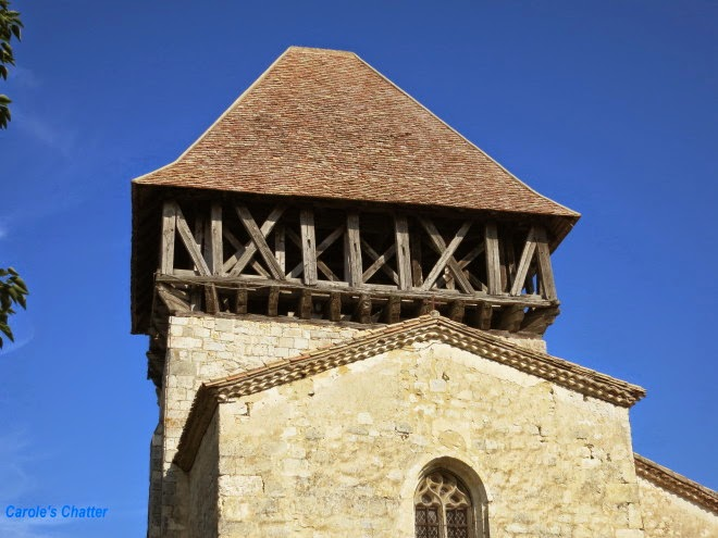 Church tower, Bournel, Lot et Garonne, France by Carole's Chatter