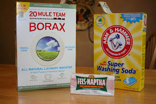 Homemade Laundry Soap detergent recipe ingredients