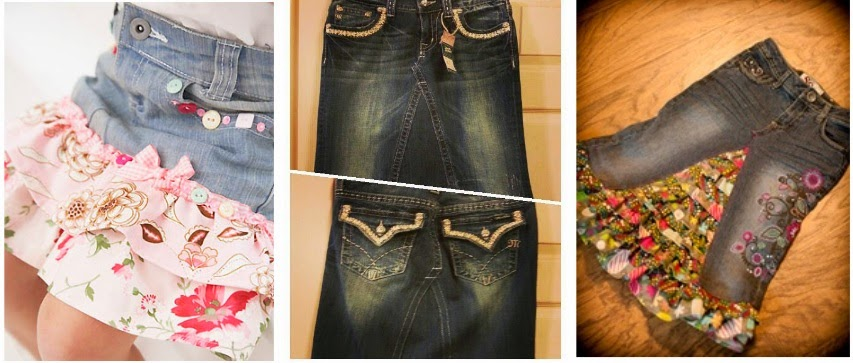 http://www.stacymakescents.com/how-to-turn-jeans-into-a-skirt