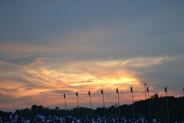 sunset at wolf creek concert picnic - photo challenge