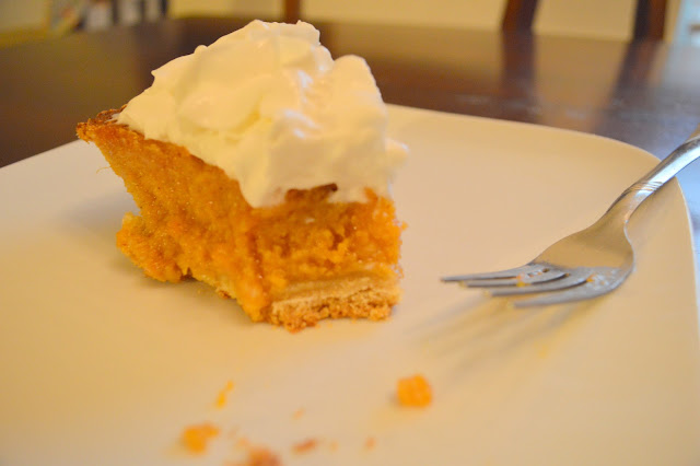 sweetest sweet potato pie with whipped cream