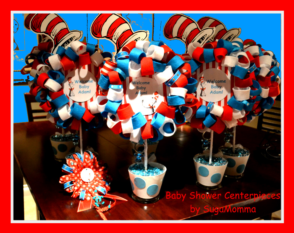 Dr. Seuss Baby Shower Centerpieces!