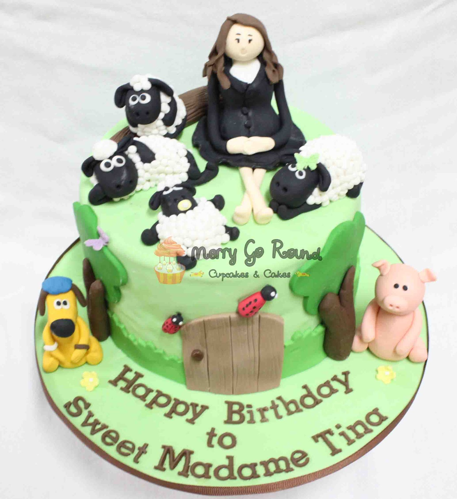 Merry Go Round Cupcakes Cakes Shaun The Sheep Birthday Cake