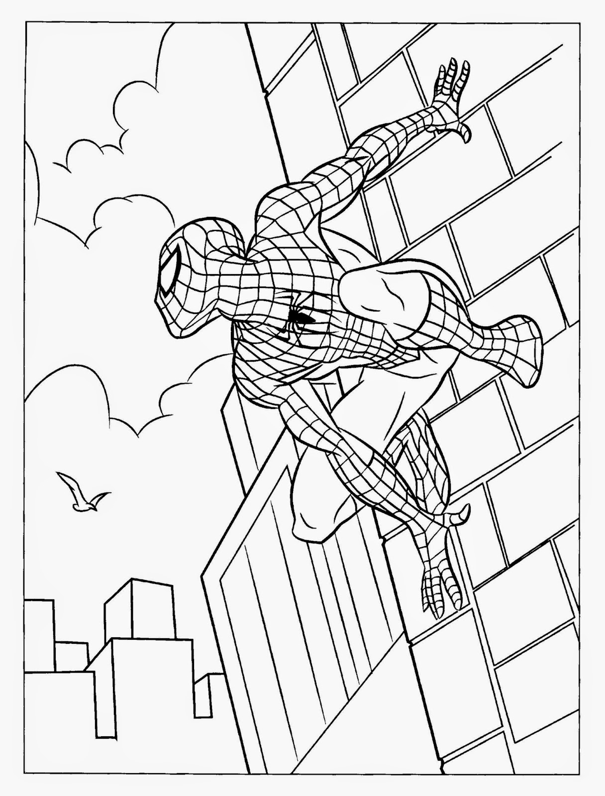 spiderman free coloring pages - spiderman color sheets free coloring sheet