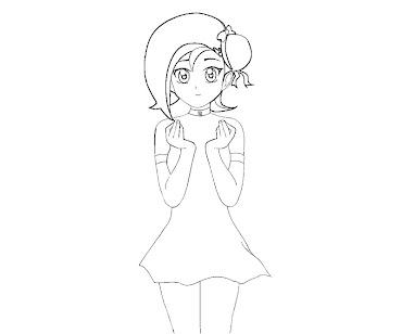 #14 Kotori Mizuki Coloring Page