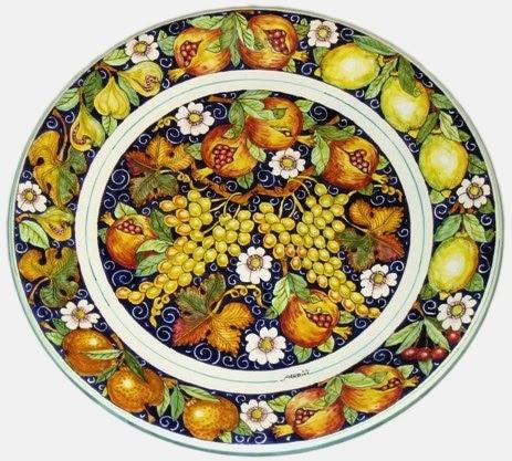 La bottega dell 39 artista piatti in ceramica decorati for Piatti decorati