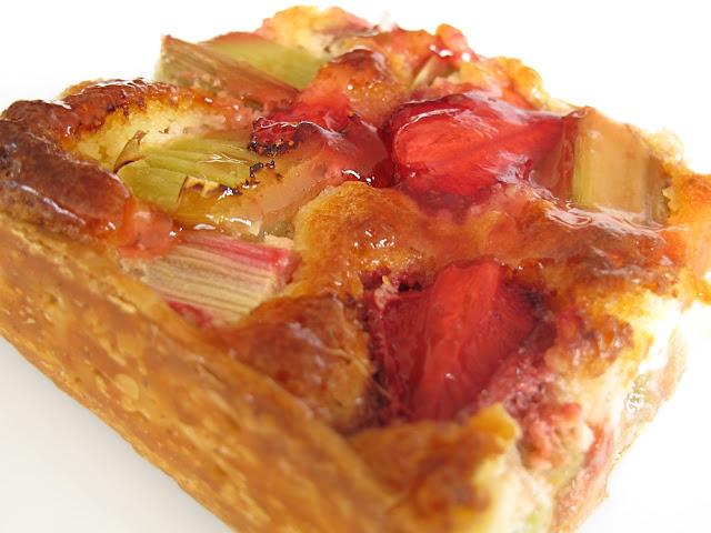 La Gambette à Pain - Tarte fraise rhubarbe