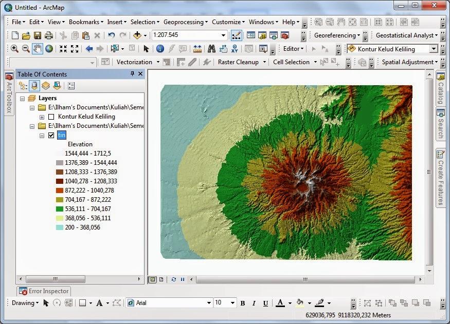 Contoh Analisis 3 Dimensi untuk Pembuatan Data DEM www.guntara.com