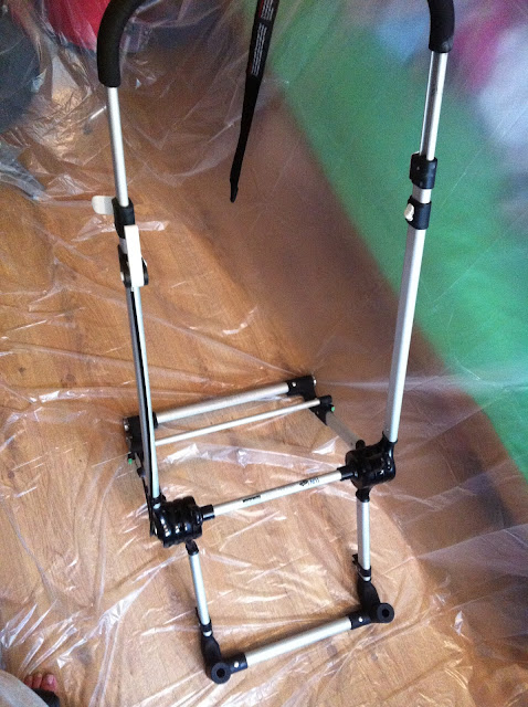 Spray Painted Bugaboo Cameleon 2nd Generation Chassis Frame