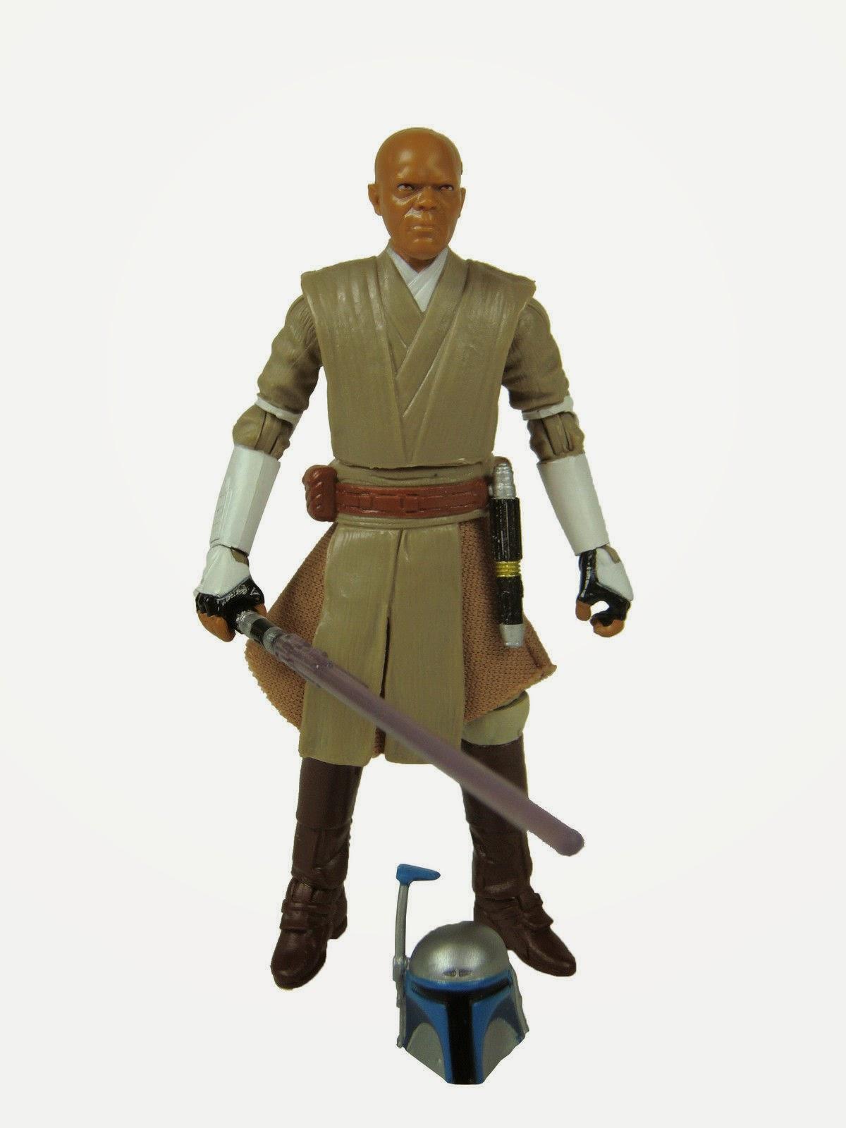 "2013 Star Wars 3.75"" Black Series Clone War Mace Windu Loose Action Figure"