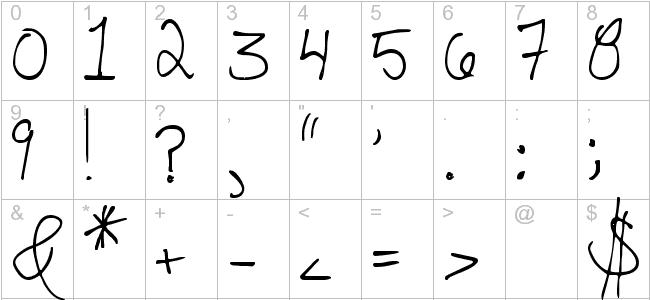 Messy Handwriting Font