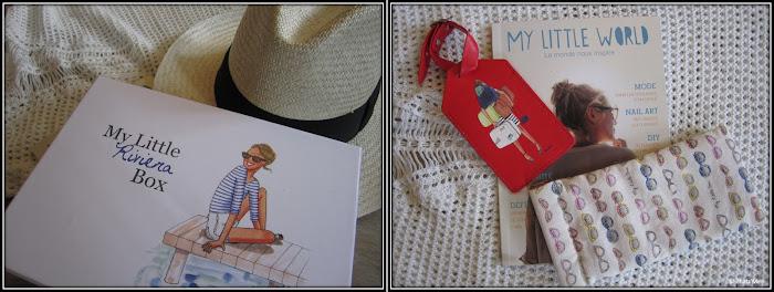 My Little Box Rivieira Mai 2013 etui lunettes et tags valise, panama roland garros, robe maille ajourée  H&M 14,90€