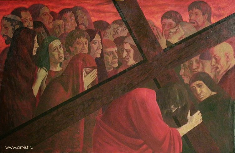 Bearing the Cross Russian Art