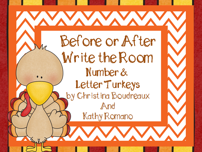 http://www.teacherspayteachers.com/Product/Before-or-After-Write-the-Room-Number-and-Letter-Turkeys-1547816
