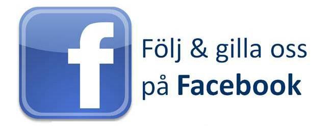 Vi finns även på facebook. Följ och gilla oss gärna där.