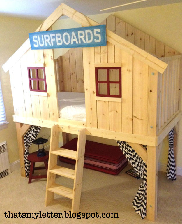 How to build a clubhouse fort bed jaime costiglio for Diy clubhouse