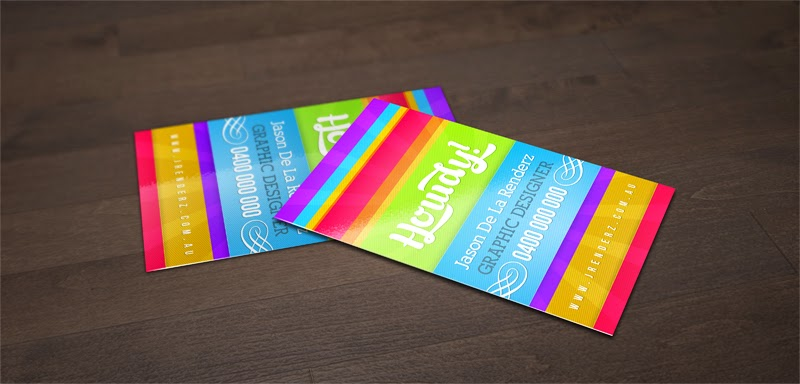 Free Colourful Business Card PSD Template