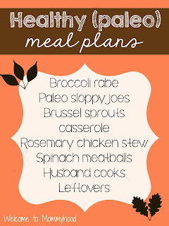 Healthy meal plans: Paleo meal plan by Welcome to Mommyhood #healthymealplans #paleo