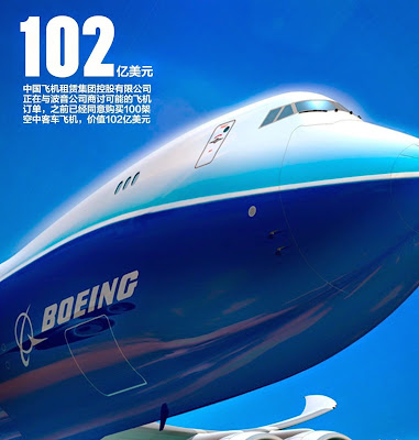 中國飛機租賃 1848 signed a Memorandum of Understanding (MoU) with 空中巴士(Airbus) for 100 A320 Family aircraft, not 波音(Boeing)