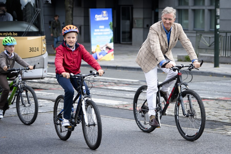King Philippe and Queen Mathilde took their four children