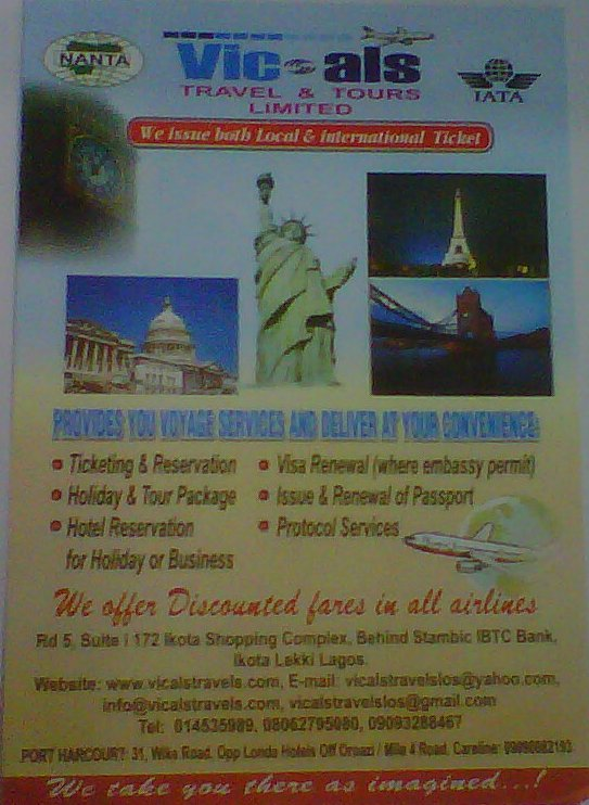 Vicals Travels & Tour Ltd