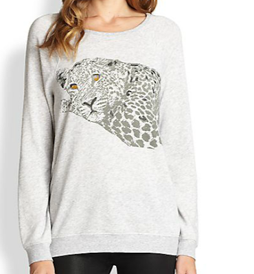 cute animal sweatshirt, fashion, trends, fashion trends, trendspotting, trend-spotting, Soft Joie Annora Cheetah Sweatshirt