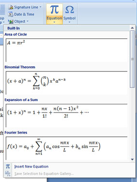 Tips Microsoft Word 2007 Cara Menampilkan Operasi Matematika Equation Tools