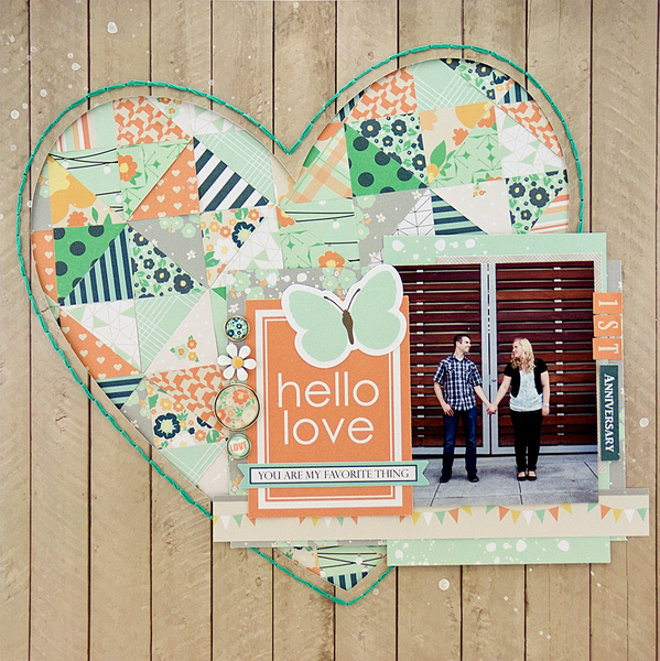 Allie Stewart Chickaniddy Date Night Heart Layout