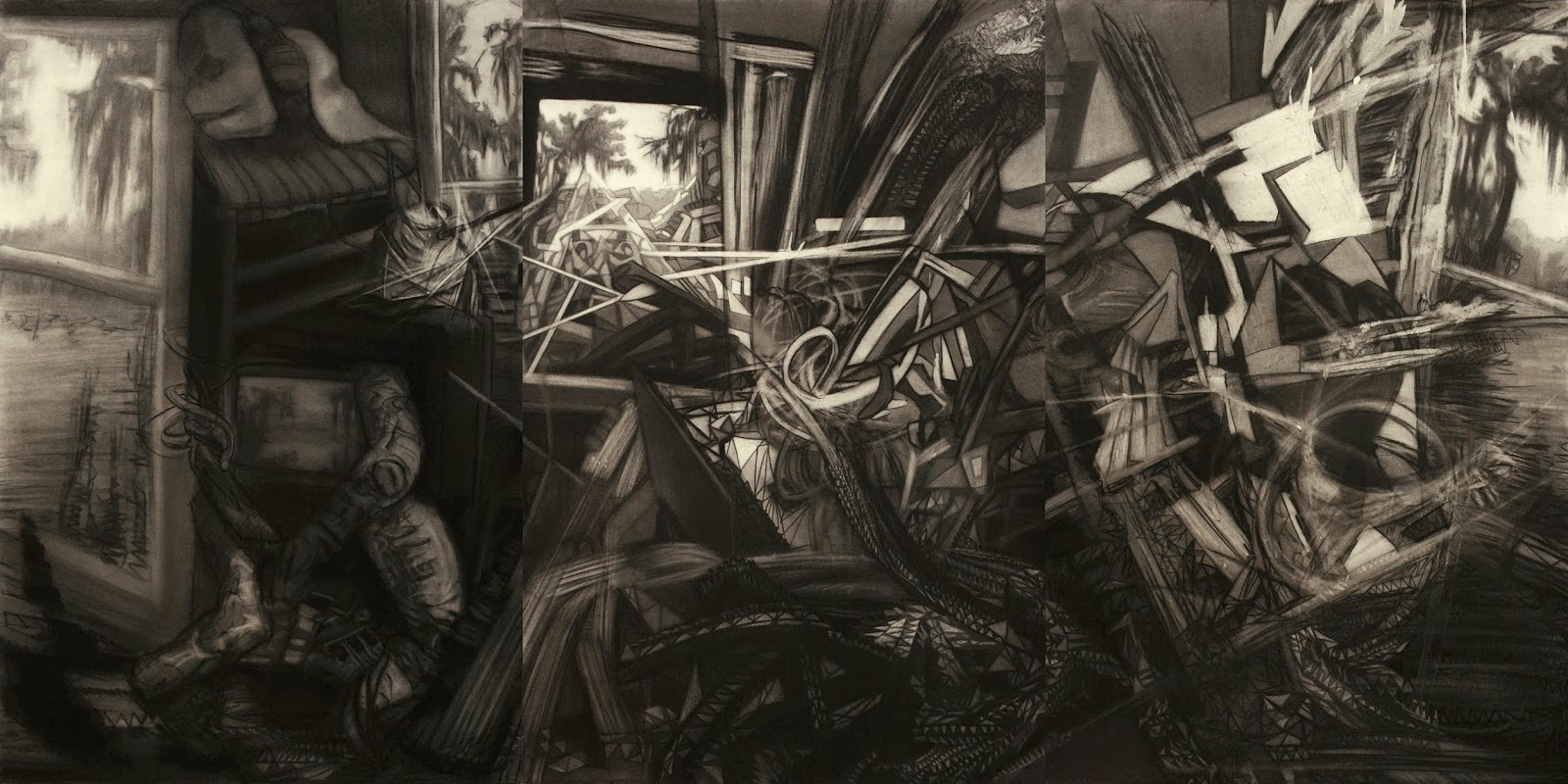 Contemporary Charcoal Drawing
