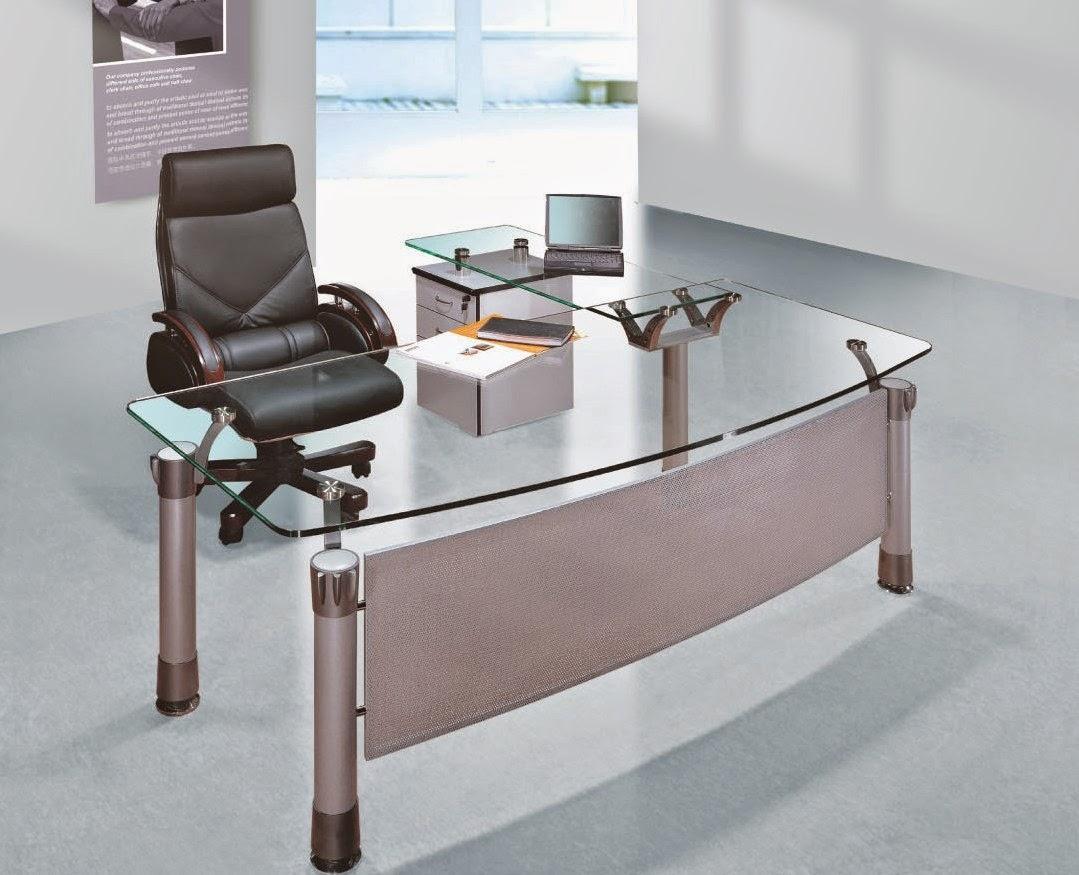 Stylish Computer Desks glass table top - google+