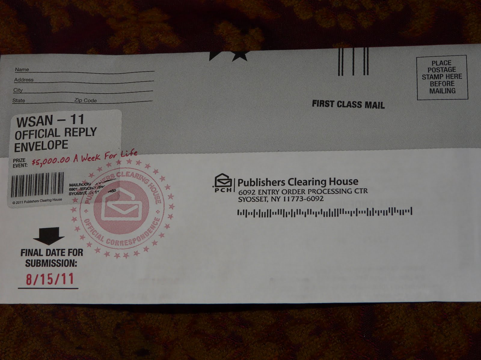 ... Junk Mail Dealing With The Publishers Clearing House Sweepstakes. They  Had Some Past Winners Listed On The Flier. It Gave The Personu0027s Name And  How Much ...