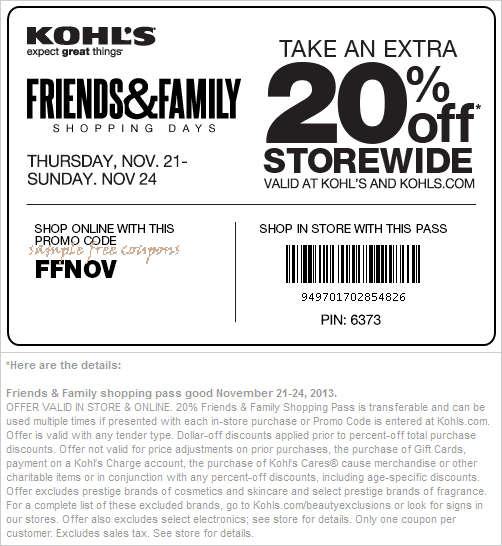 Kohls in store printable coupons september 2018