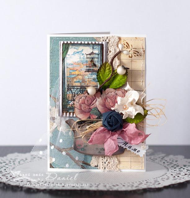 открытка маме скрапбукинг цветы