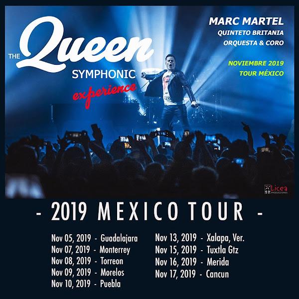 The Queen Symphonic Experience : Marc Martel, Quinteto Britania 5-17 Noviembre 2019