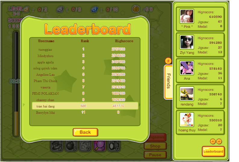 Leader Board: Rank 886 :D