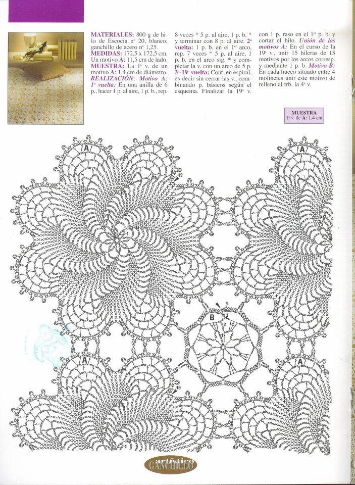Mussambe colcha renda croch - Aplicaciones de crochet para colchas ...