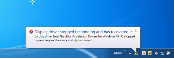 Method of solving the problem of sudden stops Driver graphics card to work and receive the error message on Windows 8 and Windows 7