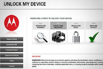 Motorola bootloader unlocking tool to unlock your Device