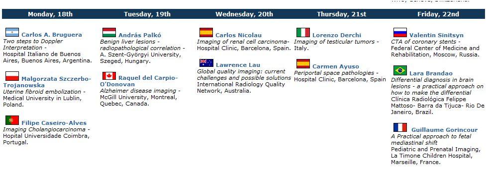 RADIOLOGIA MACARENA: conferencias ISR (3ª semana)