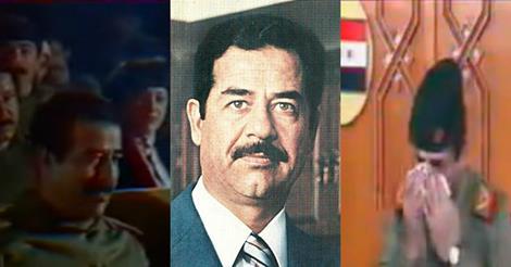 فيديو مثير يكشف المناسبة التي بكى فيها صدام حسين و أبكى الجميع.