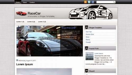 RaceCar - Free Blogger Template